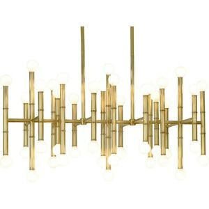 Robert Abbey Jonathan Adler Meurice 42 Light Chandelier, Modern Brass - 687