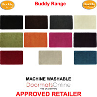 BUDDY RUG 11 Colours & 2 Sizes Stain Resistant Machine Washable Anti-Slip Runner