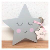 Personalised Newborn Baby Boy / girl Gift Present Christening Keepsake Moon Star