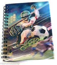 3 D exsteme Zombie CALCIO COVER A6 FODERATO Notebook Flip due foto
