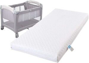 Baby Travel Cot Mattress Quilted Protector Toddler Bed Crib Cover Breathable