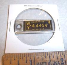 1968 Kansas #44454 DAV Mini License Plate keychain Disabled American Vet