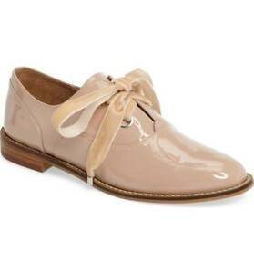 Shellys London Frankie Patent Timeless Structured Oxford Lace Up Shoes