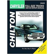 Chilton Repair Manual Dodge Pick-ups, 1989-96