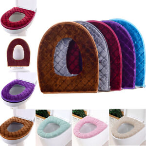 Winter Warmer Home Bathroom WC Toilet Seat Covers Washable Soft Mat Pad Cushion