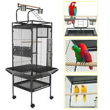 "61"" Large Bird Cage Large Play Top Parrot Finch Cage Cockatiel Cockatoo Play Top"