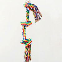 pro 25cm Colorful Parrot Cage Toys Cotton Rope Bird Funny Play Hanging Perches#~