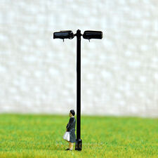 10 pcs HO Scale Model Lamppost Street Light SMD LED Made Courtyard Lamp #048