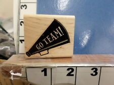 Go Team Cheerleading  Stampin up RUBBER STAMP 8C