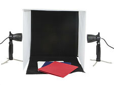 Polaroid Pro Table Top Photo Studio Kit with 2 LED Lights, 2 Light Stands, 1 Tri