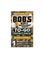 (qty - 12) Bobs Insect Repellant All Natural with Aloe Camping Out wipes