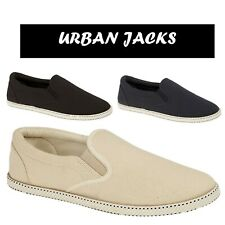 Mens Espadrilles Flat Slip On Canvas Pumps Summer Holiday Casual Trainer Sizes