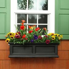 Flower Box, Mayne Fairfield 11 in. x 36 in. Plastic Window Box, Garden, Planter