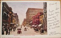 Minneapolis, MN 1909 Postcard: Nicollet Avenue/Downtown - Minnesota