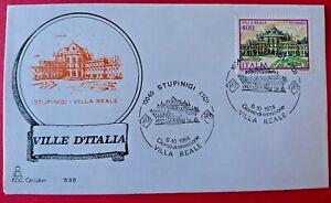 Busta primo giorno FDC Capitolium 535 STUPINIGI, VILLA REALE Torino Italia 1984