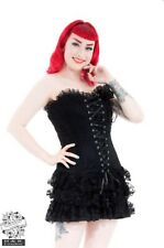 Hearts And Roses Black Moulin Rouge Corset Dress