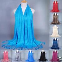 Fashion Women Tassel Long Soft Cotton Scarf Wrap Ladies Shawl Large Scarves