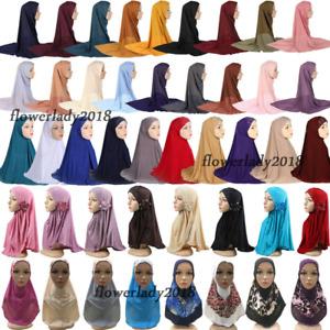 One Piece Amira Hijab Muslim Hijabs Islamic Scarf Niqab Khimar Prayer Shawl Wrap