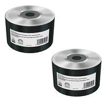 100 Mediarange Blank Mini CD Discs 8cm CD-R 25min Silver NON Printable MR258-U