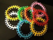 Assorted Elastic Dental Orthodontic Ligature Ties mickey mouse colors 1000/PK