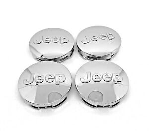 "4x Jeep 64mm 2.5"" Chrome Wheel Center Cover Caps Grand Cherokee Wrangler Compass"