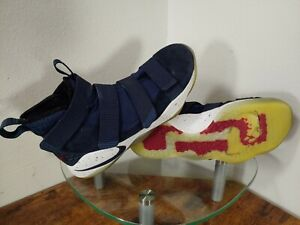"""Nike Lebron Zoom Soldier 11 """"College Navy"""" Mens 9.5 Blue / Red / White"""