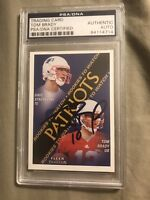 2000 FLEER TRADITION TOM BRADY Signed Autograph ROOKIE  Patriots JSA & PSA COA
