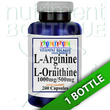 L-Arginine and L-Ornithine 1000mg/500mg 200 Caps by Vitamins Because