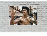 BRUCE LEE ENTER THE DRAGON MARTIAL ARTS Canvas Wall Art Print FRAMED