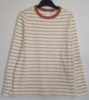 New Marks & Spencer Long Sleeve Cotton Pink Striped Sweatshirt Top - Size 8 - 16