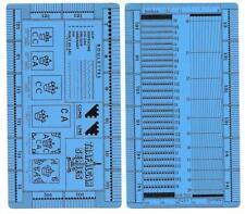 "Plastic New Perforation Gauge ""Trafalgar Series Gauge"" Double-sided"