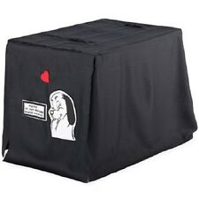 """Dog Cage Privacy Cover 36"""" x 21"""" x 27"""" Breathable Material Black Good Night NWT"""