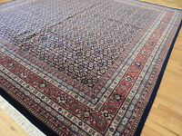 10x10 Gorgeous Herati  Oriental SQUARE Area Rug Black Red wool Traditional