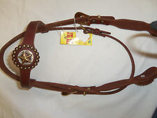 TEXTAN HEADSTALL WITH STAR EMBLEM -NEW WITH TAGS