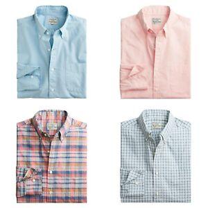 J.Crew Slim Fit Shirt Mens Lightweight Coolmax Secret Wash Poplin Button Down