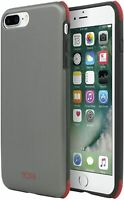 TUMI iPhone 7 Protection Back Case | Brushed Gunmetal/Red | Drop-Protection