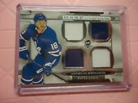 2018-19 THE CUP ROOKIE FOUNDATIONS ANDREAS JOHNSSON MAPLE LEAFS /49 NICE