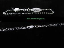 Real silver baby kids bracelets SOLID 925 STERLING SILVER BRACELET LOT OF 2