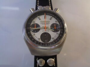 CITIZEN CHRONOGRAPH MENS WATCH DAY & DATE CALENDAR AUTOMATIC 8110 white dial