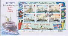 Unaddressed Jersey Cover FDC 2010 Postal History IV Mail Ships Sheet 39p-80p