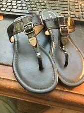 Coach - black - Cassidy   T Strap  4c Sandal  Size 8.5
