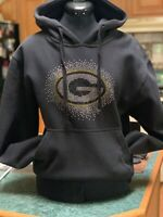 GREEN BAY PACKERS RHINESTONE BLING HOODIE SIZES SMALL MED LARGE XL XXL