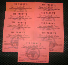 1960's VIC TANNY's GYM and HEALTH CLUB Long Island NY FREE Passes