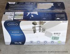 "Harbor Breeze Mazon 44"" Brushed Nickel Flush Mount Indoor Ceiling Fan, Light"
