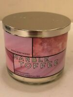 Bath & Body Works MARBLE TOFFEE Candle 3 WICK NEW Pick Quantity