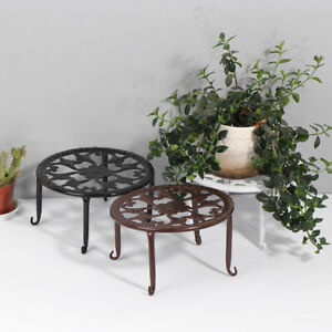Wrought Iron Potted Stand Flower Pot Rack Stand basion Shelf BalconyDecor RackLD