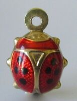 9ct Gold Charm - Small 9ct Yellow Gold Enamelled Ladybird Charm
