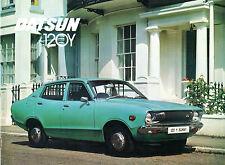 Datsun Nissan Sunny 120Y 1975-76 UK Market Sales Brochure Saloon Coupe Estate