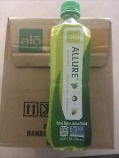 Alo Allure Aloe Vera Juice Drink mangosteen+Mango 16.9fl oz 12 pack New In Box.