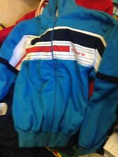 ADIDAS VINTAGE TRACKSUIT TOP 1980 AT £24 IN SIZE 34 INCH POLYESTER COTTON